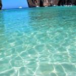 Vatten i Maya Bay Phi Phi Islands