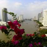 Vy fran hotellet Shangri-La i Bangkok